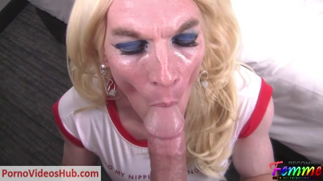 Watch Online Porn – BecomingFemme presents Ashley Satin Blonde CD Gets a Taste Of Her First Big Dick – 08.09.2018 (MP4, HD, 1280×720)