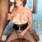 60PlusMilfs presents Bea Cummins (68) in Beas First Interracial Three-Way