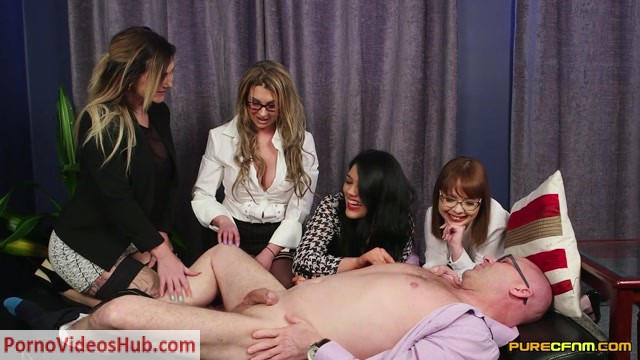 Watch Free Porno Online – PureCFNM – Cherry English, Lola Lee, Roxi Keogh, Sapphire Rose in Meet Her Boss (MP4, FullHD, 1920×1080)