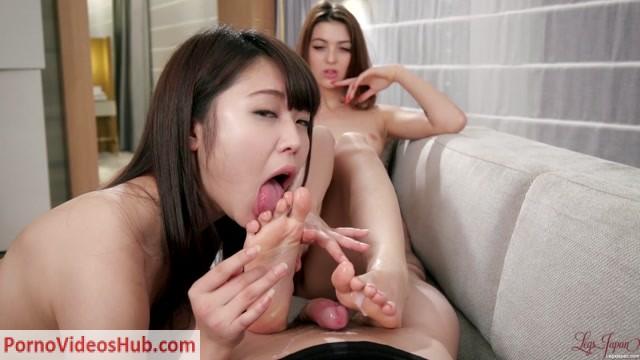 Watch Online Porn – LegsJapan – Yui Kawagoe, Tera Link – Footlicking Footjob and Blowjob (MP4, FullHD, 1920×1080)