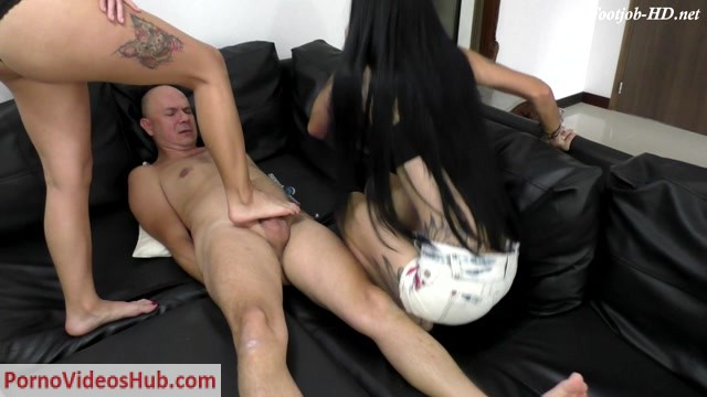 Watch Online Porn – Latin Domination Goddesses – Double Footjob While Pinching Nipples (MP4, FullHD, 1920×1080)
