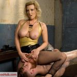 DivineBitches presents Cherry Torn in Pretty boy slave humiliated and pegged by Mistress Cherry Torn!