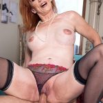 60PlusMilfs presents Diamond Red (64) in The guy fucking Diamond is young enough to be her son