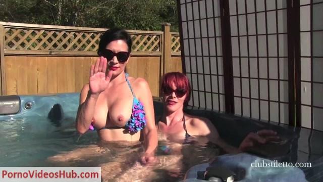 Watch Online Porn – Clubstiletto – Miss Jasmine, Mistress Staci – Hot Tub Service (MP4, FullHD, 1920×1080)