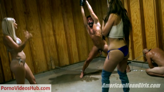 Watch Online Porn – TheMeanGirls – Goddess Platinum, Princess Carmela – Hooked On Ballbusting (MP4, FullHD, 1920×1080)