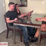 Bratty Babes Own You – Real Estate Agent Sofie Reyez Gets House Sold By Making Unaware Wife Husband Cum In Pants Under The Table HD