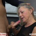 GrandMams presents Old Blond Whore Enjoying Young Gigolo