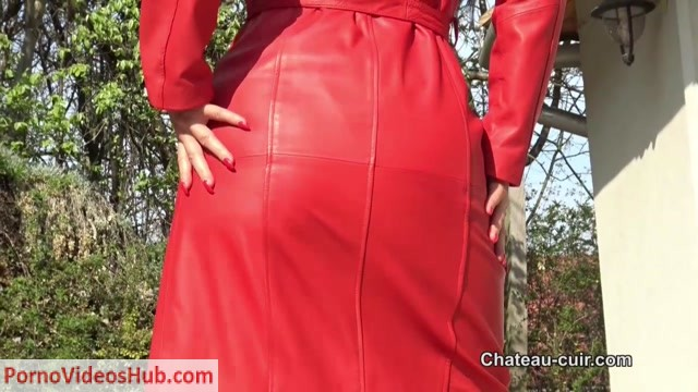 Watch Online Porn – Chateau-Cuir – Red leather coat JOI – Fetish Liza (MP4, HD, 1280×720)