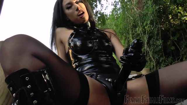 Watch Online Porn – Femme Fatale Films – Get Ready Cock Sucker – Part 2. Starring Goddess Tangent boots cock sucking dildo human ashtray knee boots patent leather boots pov (MP4, HD, 1280×720)