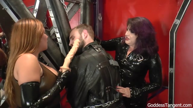 Watch Online Porn – Goddess Tangent World of Femdom – Three Mistress Fill Two Holes. Starring Mistress Elena Deluca and Mistress Simone (MP4, HD, 1280×720)