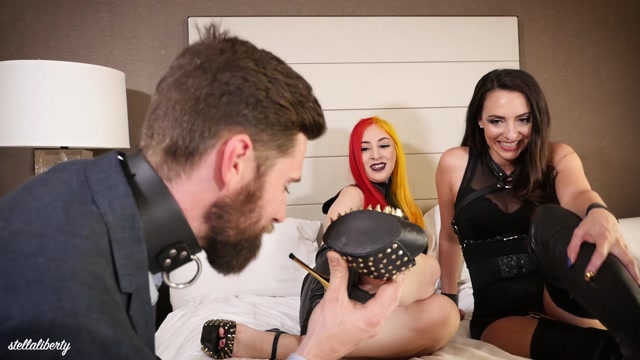 Watch Online Porn – Stella Liberty – Shoe Service – Room Service For Feet Pt. 1. Starring Mistress Stella and Goddess Lilith (MP4, FullHD, 1920×1080)