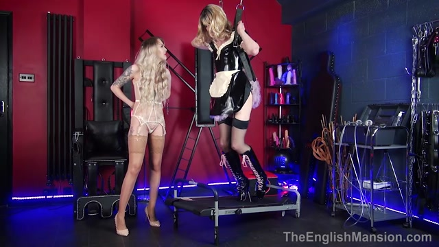 Watch Online Porn – The English Mansion – Suspended In High Heels – Part 1. Starring Miss Jade Jones  Princess Aurora anal hook ballet boots bondage suspension cock tease (MP4, HD, 1280×720)