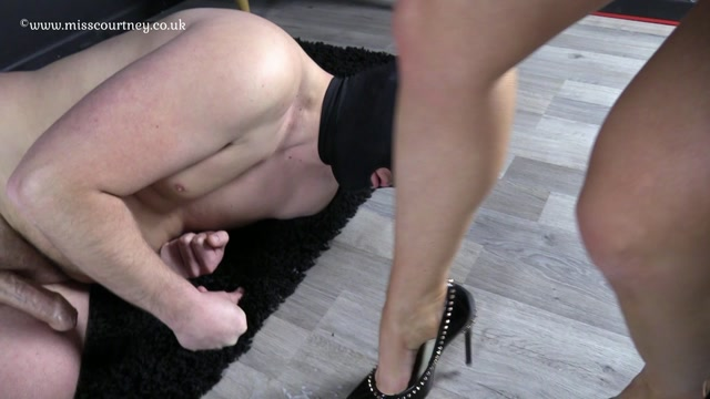 Red high heels mature wife