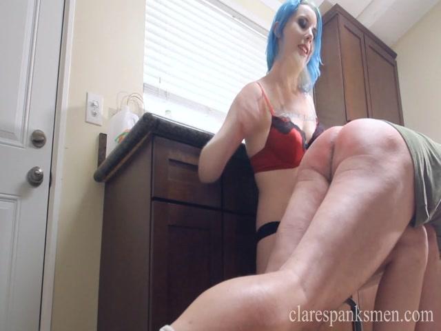 Watch Online Porn – Clare Spanks Men  Lux Lives Spanks BF in Kitchen (MP4, FullHD, 1440×1080)