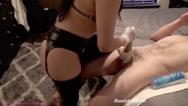 Watch Online Porn – Latina Gf Giving Her White Bf's Big Dick A Gloved Handjob In Latex – ValhallasPet (MP4, HD, 1280×720)