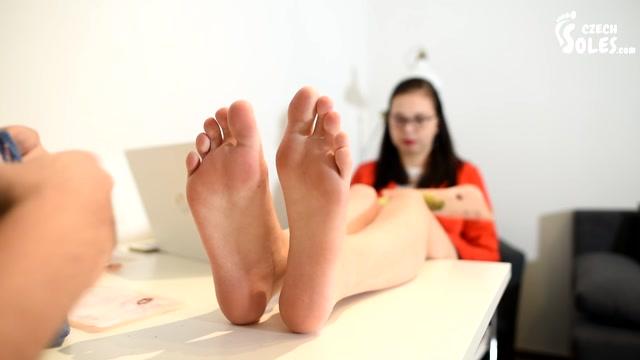 Czech_Soles_-_Stinky_socks_seller_girl_at_work_getting_her_foot_worship.mp4.00005.jpg