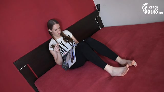 Czech Soles - Amazing bare feet student learning and showing her feet 00001