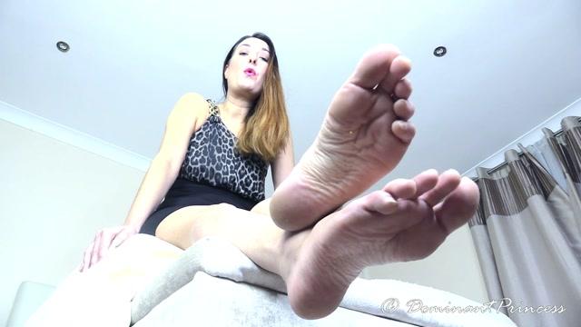Dominant Princess - Worship My White Feet Slave 00009