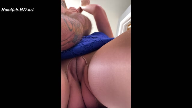 Reach around HJ, BJ, Cum on Pantyhose - HollieTroyXXX 00004