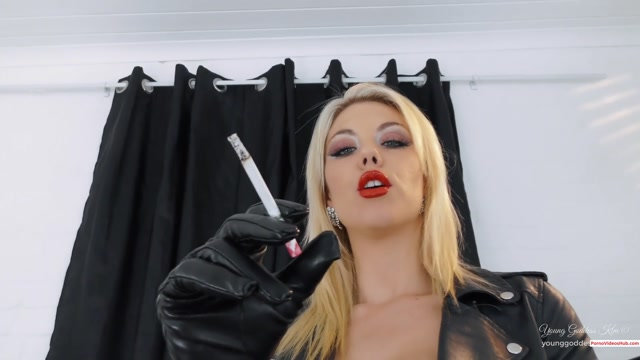 Young Goddess Kim - Smoke slave for Leather Goddess – $14.51 (Premium user request) 00007