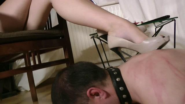 Boot Heel Worship Cbt Humiliation - HumiliatingSlaveFeeding 00009