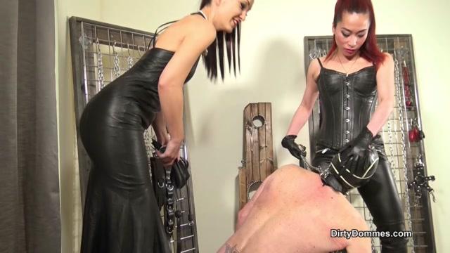 DirtyDommes - Our sensual leather licker - Goddess Maya Liyer, Fetish Liza 00014
