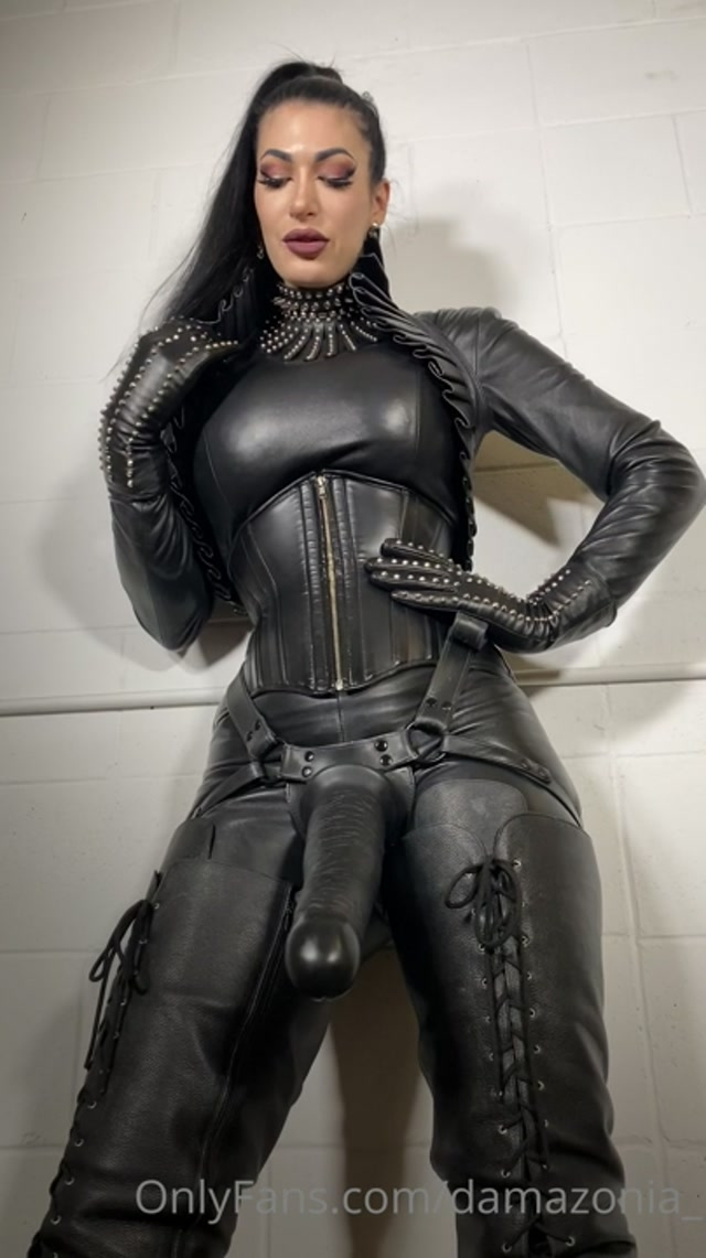 My Leather Clad Body Demands Worship And Ownership Of Your Holes – MISTRESS DAMAZONIA 00014