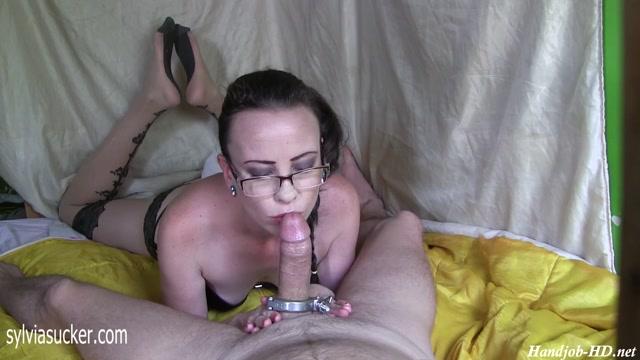 The Exquisite Eye Glass Secretary POV Blowjob and Handjob - Sylvia Chrystall 00003