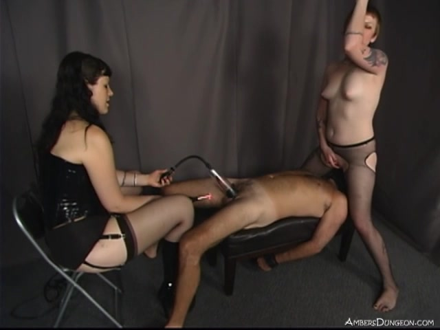 Ambers Dungeon - Mistress Nicole, Mistress Isobel - Make Him Squirm 00009