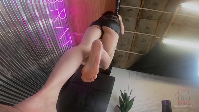 Bratty Foot Girls - Agatha Delicious - Super POV Trampling and Facestanding 00007