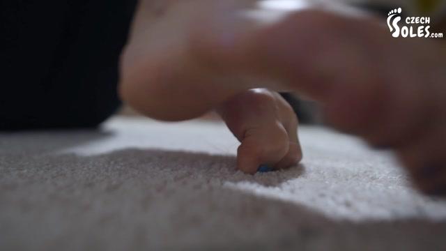 Czech Soles - Czech long toes barefoot teasing POV 00014