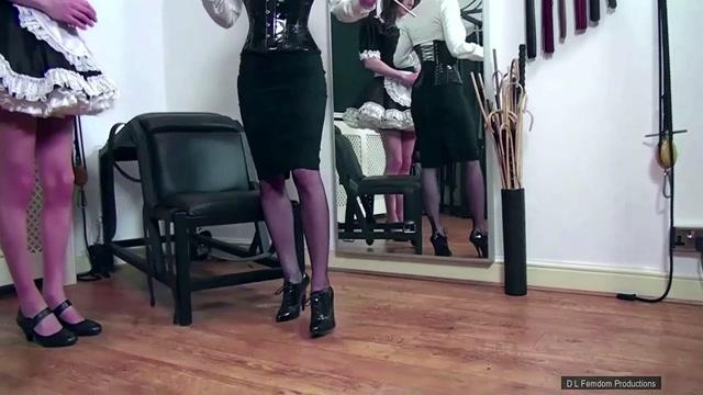 Domina Liza - Sissy Maid Caning Training - Femdom 00003
