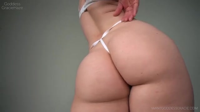 Goddess Gracie Haze - White Thong   Ass Worship 00013