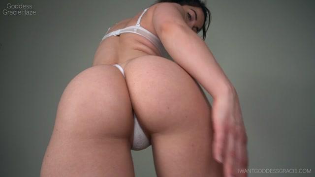 Goddess Gracie Haze - White Thong & Ass Worship 00014