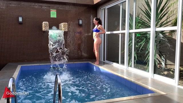 GoddessDri Striptease by the Pool 00003