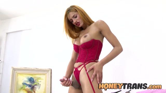 Honeytrans presents Trans Bombshell Brianca Mors Lingerie Masturbation – 17.06.2021 00003