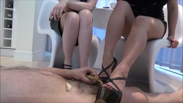Miss Kitty Bliss, Goddess Maya Liyer Cock Sandwich on high heels 00004