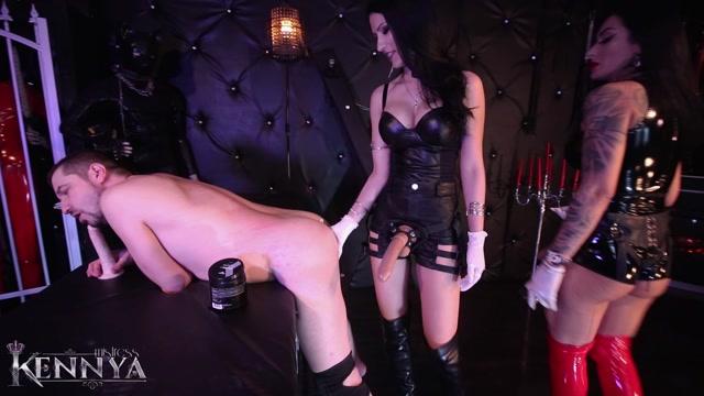 Mistress Kennya, Mistress Lexa - Double dick and fisting my bitch 00002