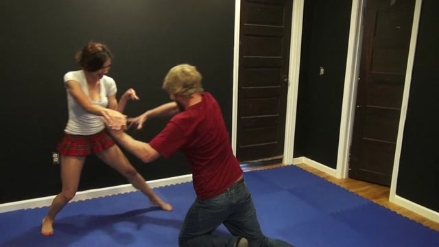 Nikki Owns Tom Clear HD - mixed wrestling, scissorhold 00000