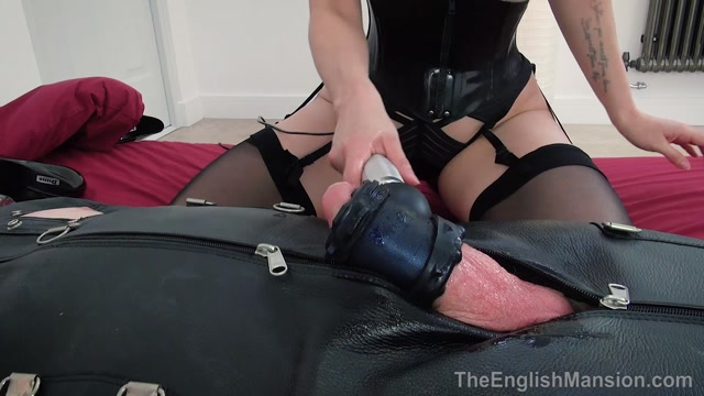 The English Mansion - Mistress Terra - Leather Sack Milking - Part 2 - Bondage 00007
