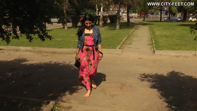 City Feet - A brunete in a long skirt. Part 3 00006
