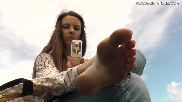 City Feet - Barefoot in the wet street. Part 2 00013