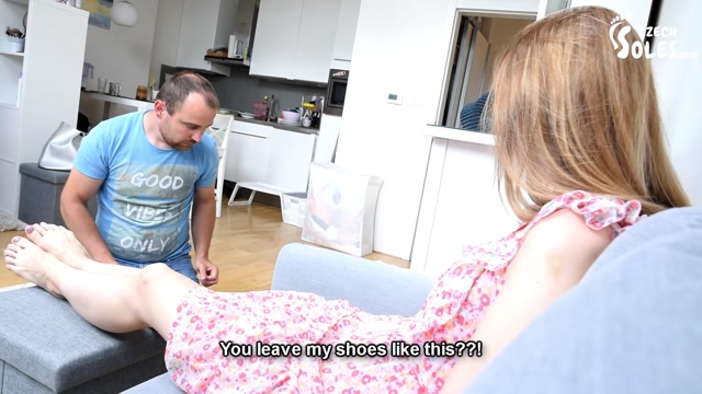 Czech Soles - Daniella - Caught at smelling her shoes and punished 00006