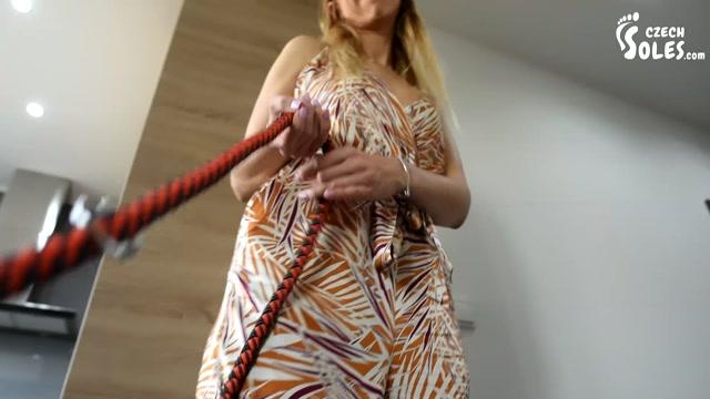 Czech Soles - POV foot slave on a leash for your cruel mistress 00001