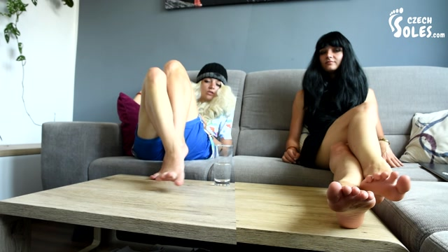 Czech Soles - Twins with sexy feet are teasing you alone, POV 00005