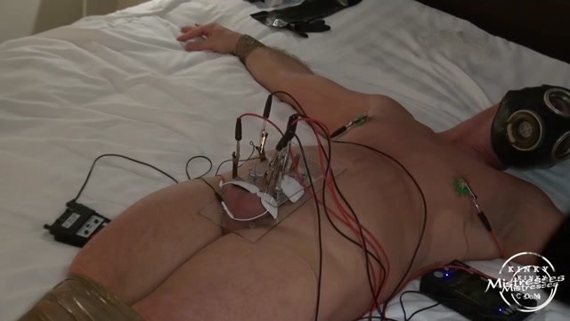 Kinky Mistresses - Mistress Regina - Private BDSM Session In The Hotel - Electric Play 00015