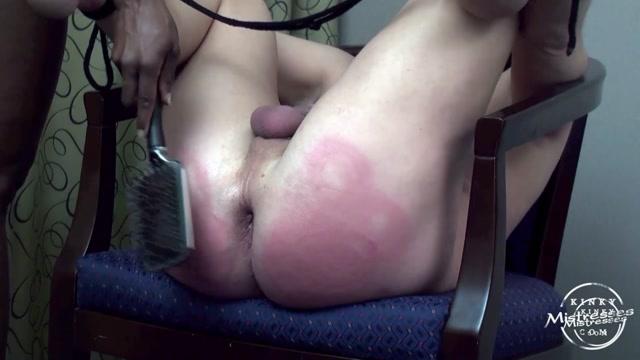 Kinky Mistresses - Mistress Treasure - Using A Hairbrush - Spanking 00015