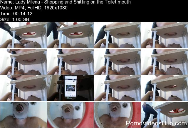 Lady Milena - Shopping and Shitting on the Toilet mouth
