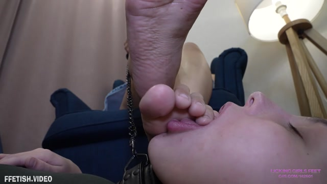 Licking Girls Feet - CAMILA - New 20 year old girl - Dusty sandals and foot worship 00013