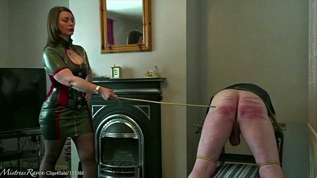 Mistress Raven UK Dominatrix - Caning Colin - 30 Hard Cane Strokes 00007